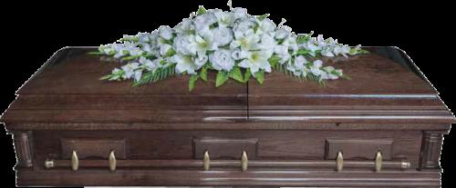 Ветка памяти эксклюзивная Белые цветы